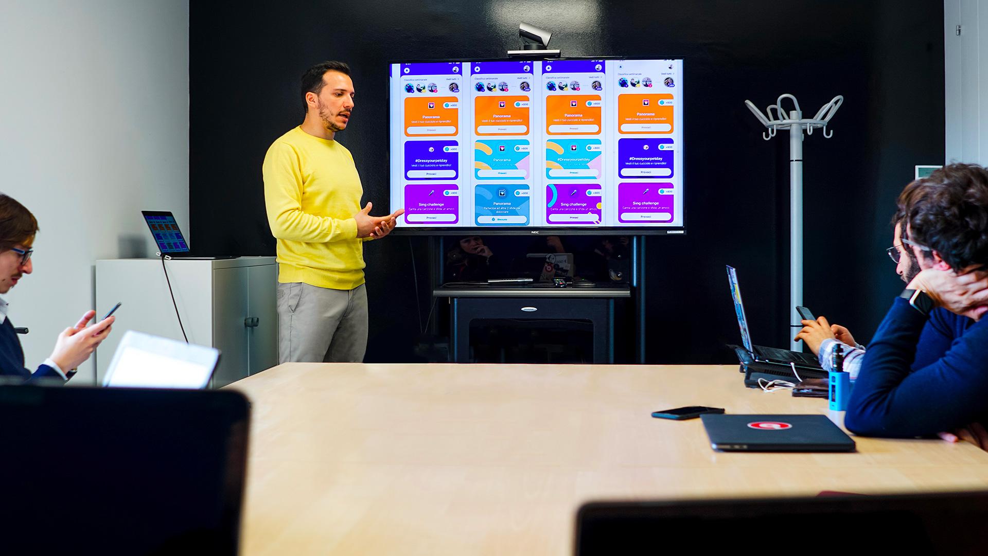 Design review con il team di Viddoser app- Claudio Mammana