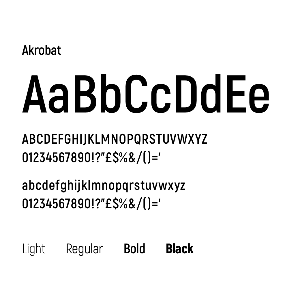 Akrobat font family – Fantamaster | Claudio Mammana