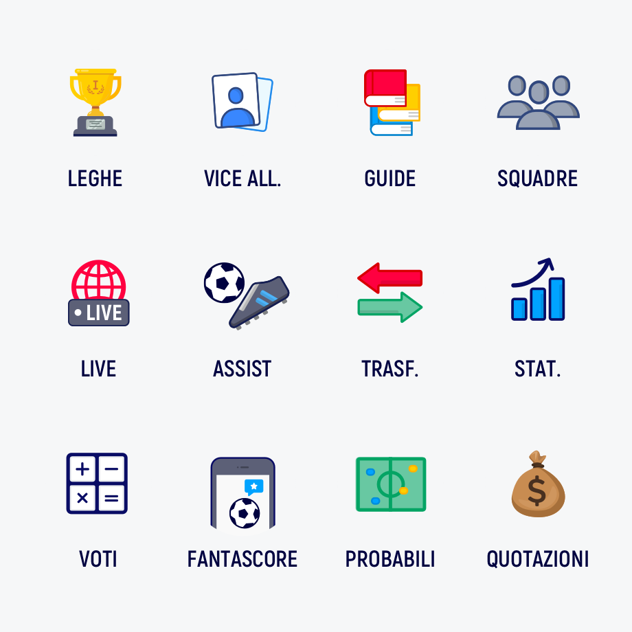 Icon set – Fantamaster | Claudio Mammana