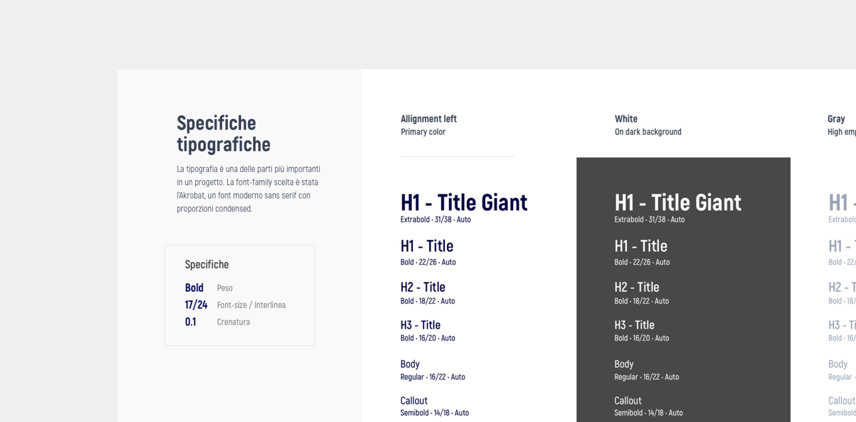 Typo guidelines – Fantamaster | Claudio Mammana